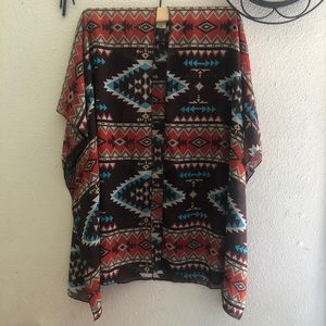 Wishful Park  Tribal Print Cover- up Size L